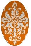 rug #193609 | oval orange popular rug