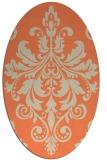 rug #193613   oval beige damask rug