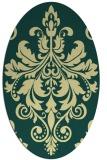 rug #193622 | oval damask rug