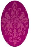 rug #193625   oval pink damask rug