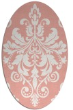 rug #193637 | oval white damask rug