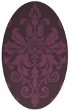 rug #193641   oval purple traditional rug