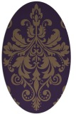 rug #193649   oval purple traditional rug