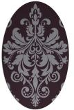 rug #193653 | oval purple traditional rug