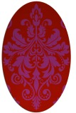 rug #193669   oval red damask rug