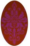 rug #193671 | oval damask rug