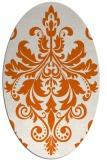 rug #193685 | oval red-orange damask rug