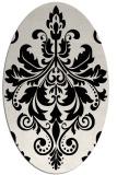 rug #193689 | oval white traditional rug