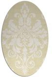 rug #193709 | oval white damask rug