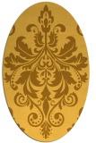rug #193721 | oval yellow damask rug