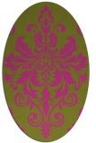 rug #193745   oval pink damask rug
