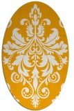 rug #193753 | oval light-orange damask rug