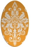 rug #193765 | oval light-orange damask rug