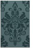 rug #193841 |  blue-green damask rug