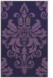 rug #193865 |  purple damask rug