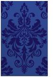 rug #193873    blue-violet damask rug
