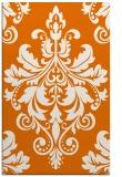 rug #193961 |  orange damask rug