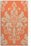 rug #193965    orange damask rug
