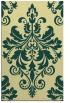 rug #193973    yellow damask rug