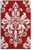 rug #194017 |  red damask rug
