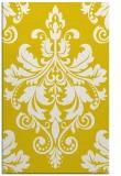 rug #194069 |  yellow damask rug