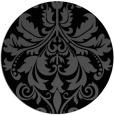 rug #194129 | round black damask rug