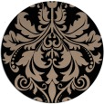 rug #194133   round black damask rug