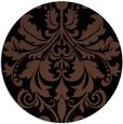 rug #194137 | round brown damask rug