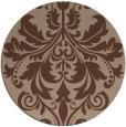 rug #194139 | round damask rug