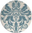 rug #194145 | round blue-green traditional rug