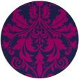 rug #194149 | round pink damask rug