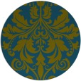 rug #194181 | round green damask rug