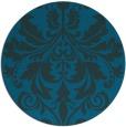 rug #194201 | round blue rug