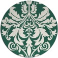 rug #194253 | round blue-green traditional rug