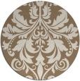 rug #194273   round beige damask rug