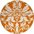rug #194313 | round orange traditional rug