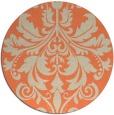 rug #194317 | round beige damask rug