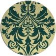rug #194325 | round yellow damask rug