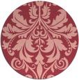 rug #194337 | round pink damask rug