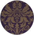 rug #194353 | round purple traditional rug