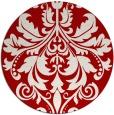 rug #194361   round red damask rug