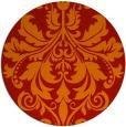 rug #194365 | round orange damask rug