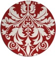 rug #194369   round red damask rug