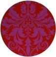rug #194373   round red damask rug