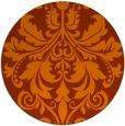 rug #194377   round red-orange damask rug