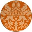 rug #194381 | round red-orange traditional rug