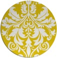 rug #194421 | round yellow traditional rug