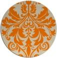 rug #194437 | round orange damask rug