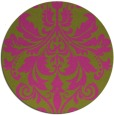 rug #194449 | round pink traditional rug