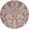 rug #194461 | round pink damask rug